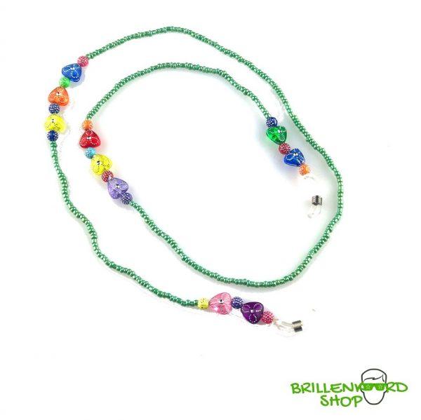 1107 zonnebril koord - zonnebri touwtjes - ibiza - bohemian - glaskralen - groen 2