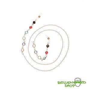 1038 brilketting - brillenketting - bohemian - strass - swarovski look - goud