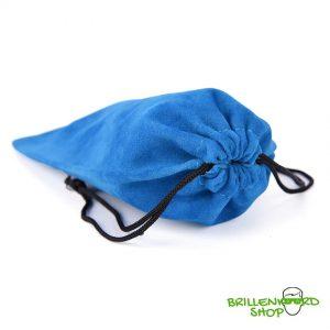 5001 brillenzak - brilzak - brilkoker - bril opbergen - blauw - met trekkoord