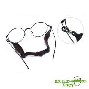 brillenkoord kinderen - verstelbaar - brilketting kinderen - blauw en swart