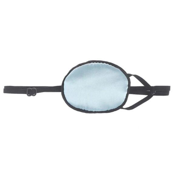 1206- eyepatch zijde - ooglapje- lichtblauw - lui oog -amblyopie - ogen laseren - oogoperatie - oogprothese