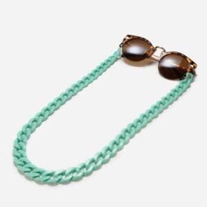 1269 - brillenketting Grote Schakel Mint - Retro - Vintage - Eyezoo XL Chain