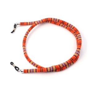 1282 - bohemian brillenkoord - Eyezoo - Softwear - Rond - oranje roest