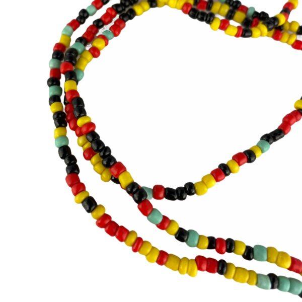 1311 brillenketting gekleurde kralen - Jamaica splash 2