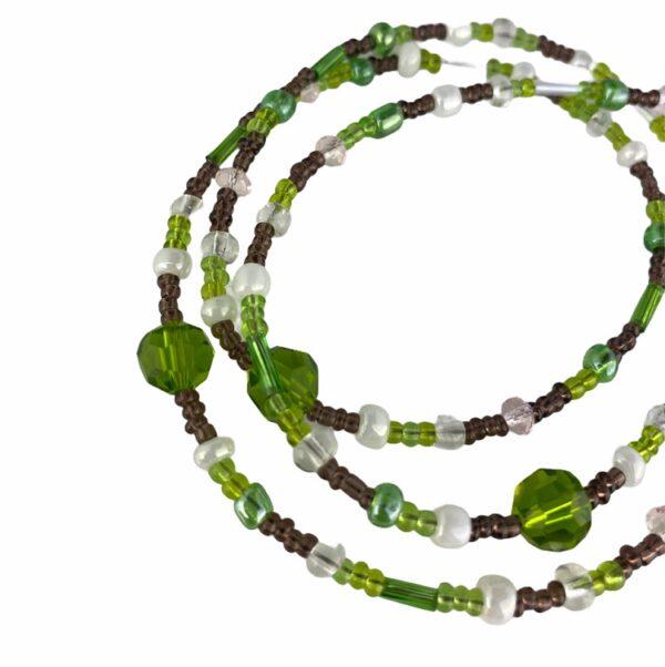 1314 brillenketting kralen groen 2