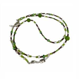 1314 brillenketting kralen groen