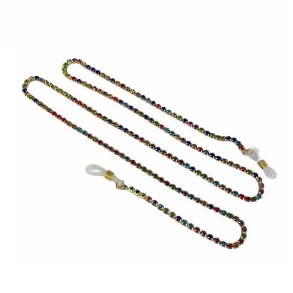1316 brillenketting kristal koord goud swarovski