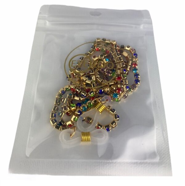 1316 brillenketting kristal koord goud swarovski verpakt