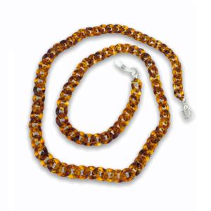 21272 brillenketting XL - Schildpad - XL Chain
