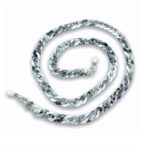 21274 - brillenketting XL - Wit Marmer - XL Chain