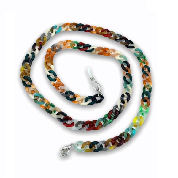 21275 - brillenketting XL - multicolor festival - XL Chain