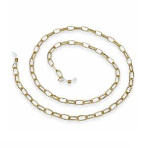 1328 brillenketting goud XL - Grote schakel - Ovaal
